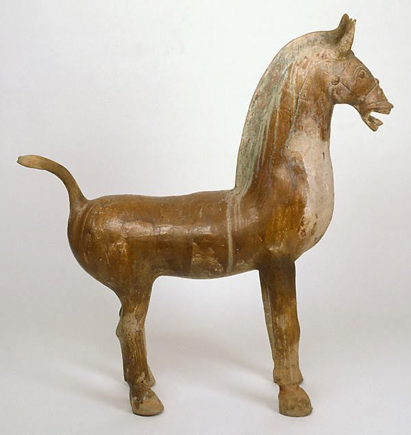 An image of A massive earthenware horse