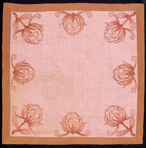 An image of Tablecloth with waratah design by Eirene Mort