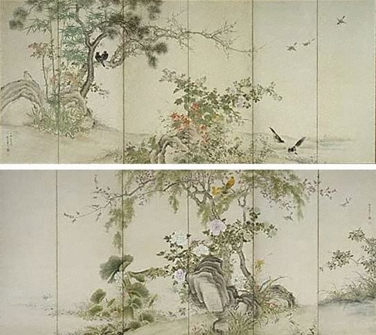An image of Birds and flowers of the four seasons