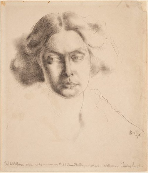 An image of Phyl Waterhouse, portrait study by Charles Bush
