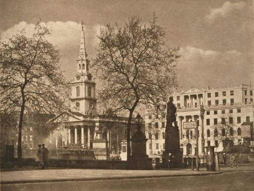An image of St Martin in the fields by James A Sinclair