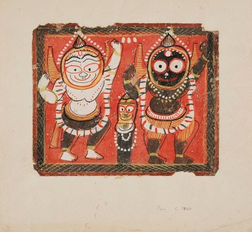 An image of The Jagannatha trinity by