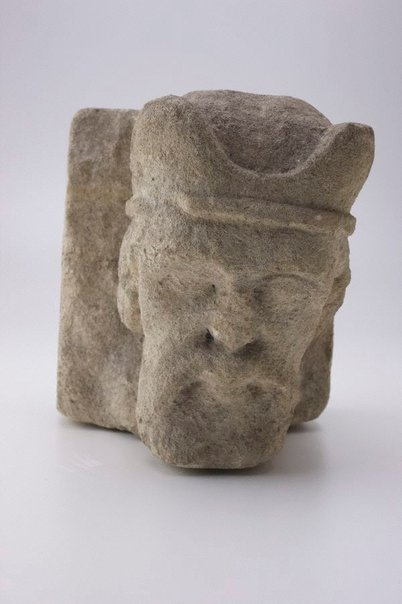 An image of Head: Corbel stone by Unknown