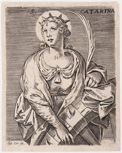 An image of Saint Catherine of Alexandria by Agostino Carracci