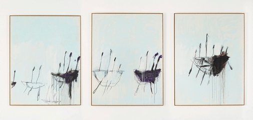 An image of Three studies from the Temeraire by Cy Twombly