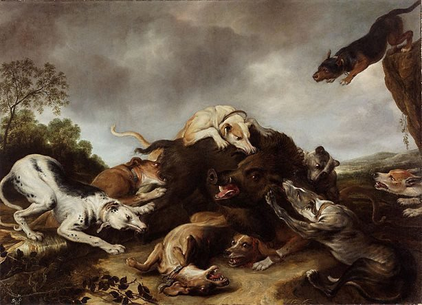 An image of The boar hunt