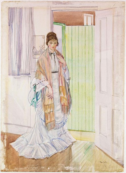 An image of Woman in shawl by Thea Proctor