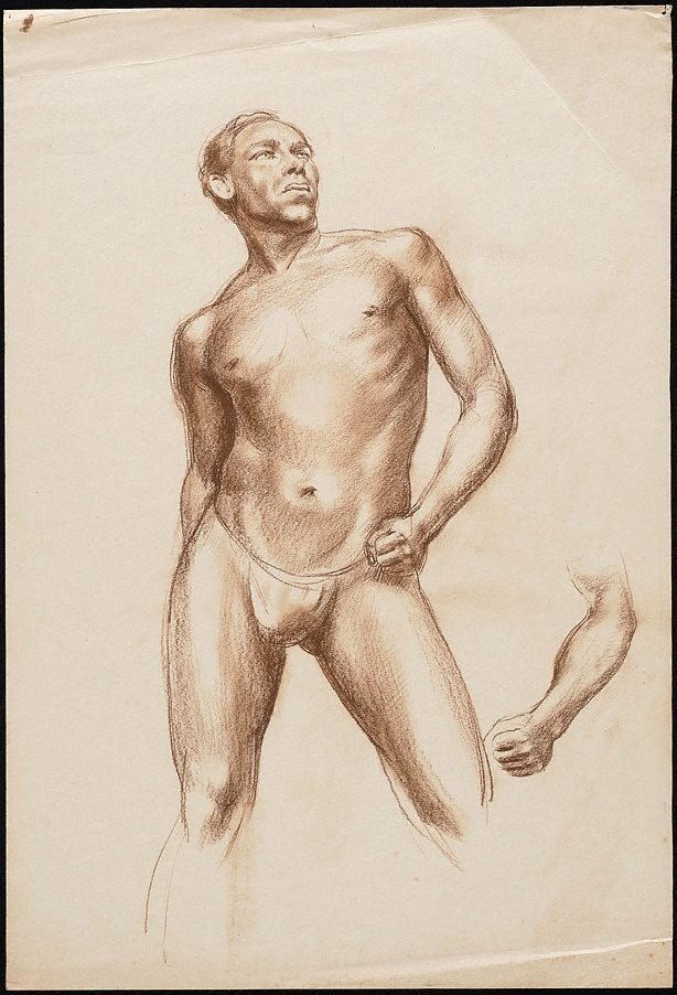 An image of Male nude in a loin cloth, London