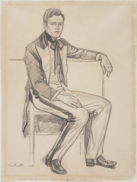 An image of Portrait of a young man by Thea Proctor