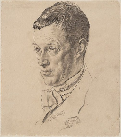 An image of Alfred Munnings by George W Lambert