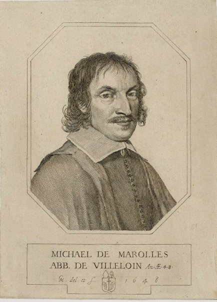An image of Michel de Marolles by Claude Mellan