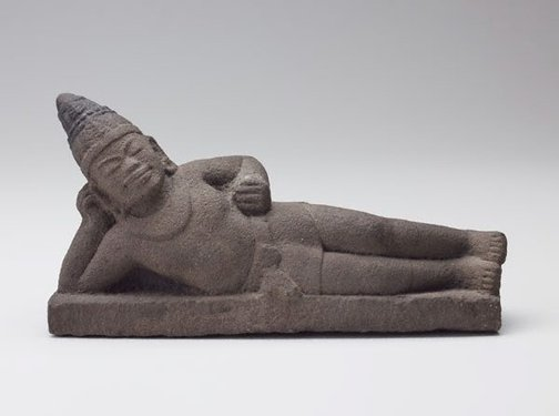 An image of Reclining figure of Vishnu by