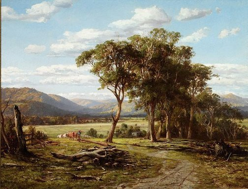 An image of At Lilydale by Louis Buvelot