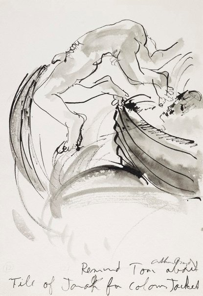 An image of (Illustration for 'Jonah' p.23) by Arthur Boyd