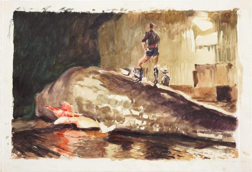 An image of The second whale by Charles Bush