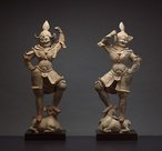 A pair of tomb guardian figures