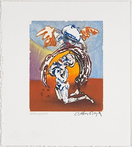 An image of Working proof for 'Jonah's prayer' by Arthur Boyd