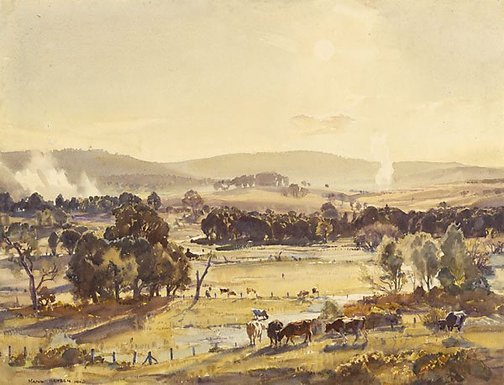 An image of An afternoon in autumn by Hans Heysen