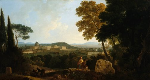 An image of St Peters and the Vatican from the Janiculum, Rome by Richard Wilson