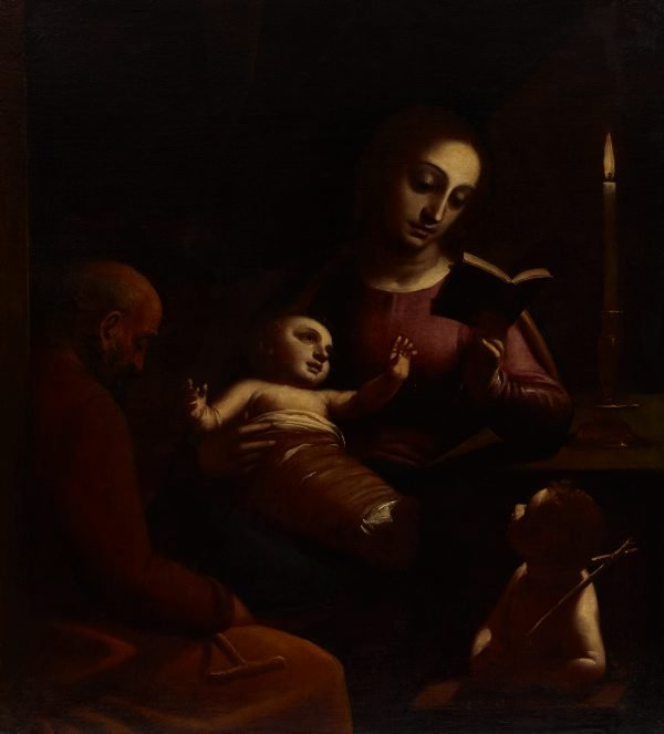 An image of Holy Family with St John the Baptist