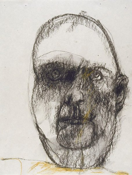 An image of Head of a countryman (Self portrait) by John Olsen
