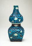 Alternate image of Gourd-shaped bottle with design of butterflies by Fahua ware