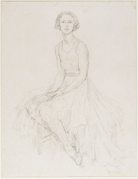 An image of Portrait of a dancer (Miss Peggy Dawes) by Thea Proctor
