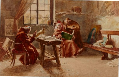 An image of Monastery study by Virgilio Colombo