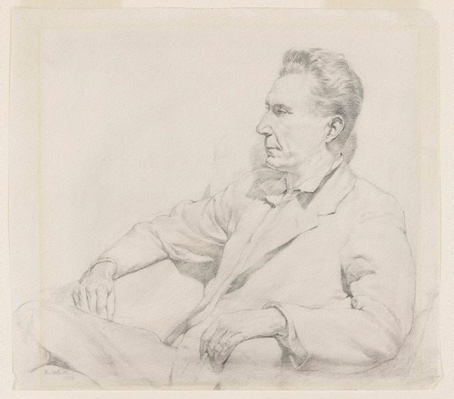 An image of Portrait of a man seated