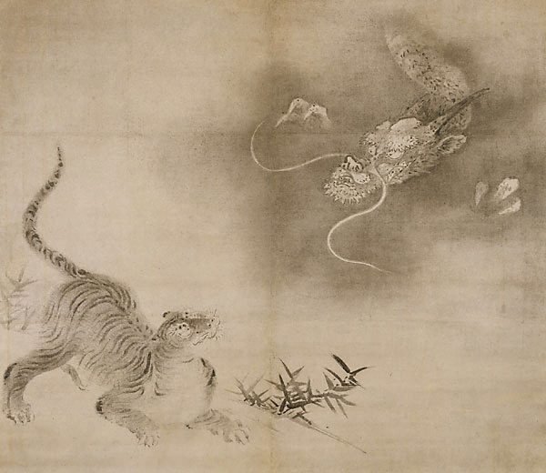 An image of Dragon and tiger