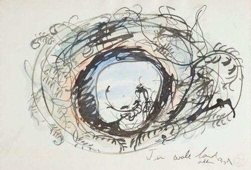 An image of (Illustration for 'Jonah' p.39) by Arthur Boyd