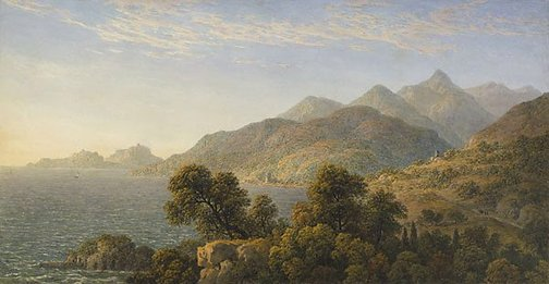 An image of The Italian coast near Naples by John Glover