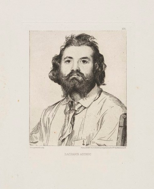 An image of Zacharie Astruc by Félix Bracquemond