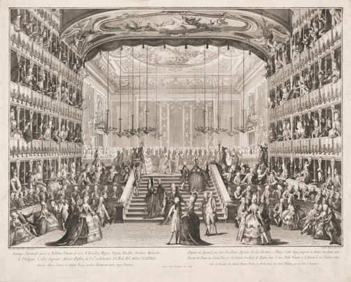 An image of Performance for the Grand Duke of Russia by Antonio Baratti, after Giovanni Battista Canal Belluno