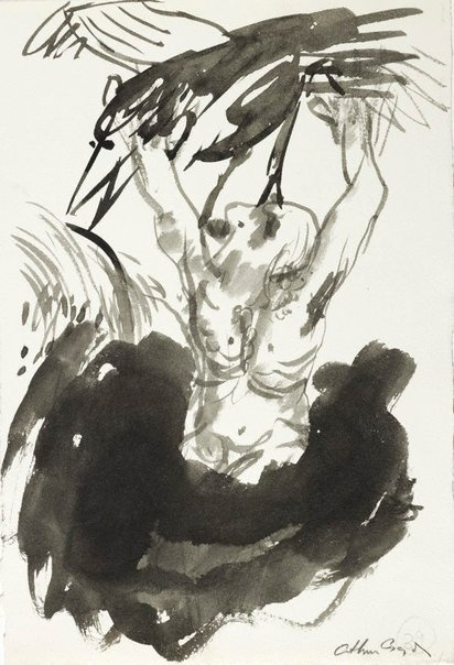 An image of (Illustration for 'Jonah' p.53) by Arthur Boyd
