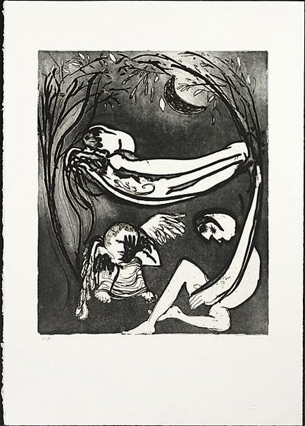 An image of Hammock lovers by Arthur Boyd