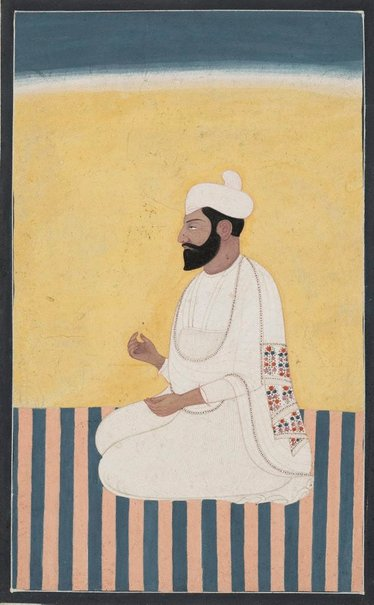 An image of Portrait of Sikh prince by
