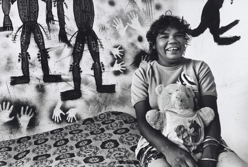 An image of Nellie Coffey in her bedroom, Dodge City, Brewarrina by Sandy Edwards