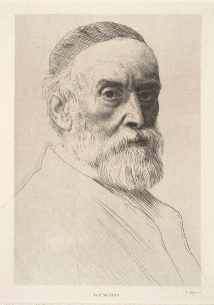 An image of G.F. Watts by Alphonse Legros