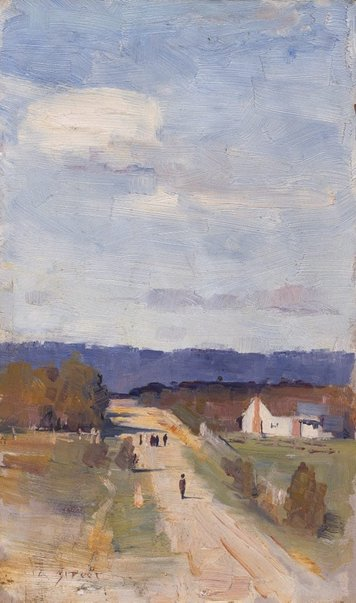 An image of A road to the ranges by Arthur Streeton