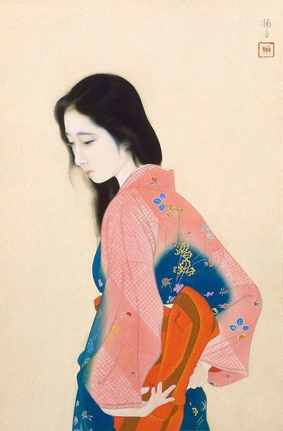 An image of Beauty looking back by KAINOSHÔ Tadaoto
