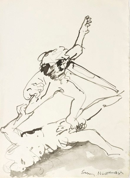 An image of (Illustration for 'Jonah' p.70) by Arthur Boyd