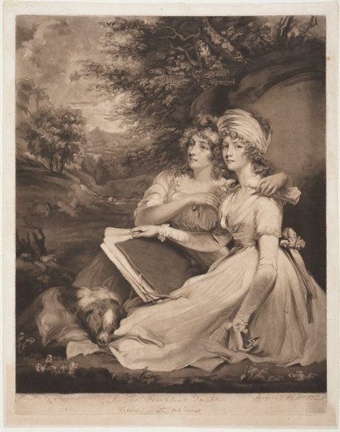 An image of The daughters of Sir Thomas Frankland by William Ward, after John Hoppner