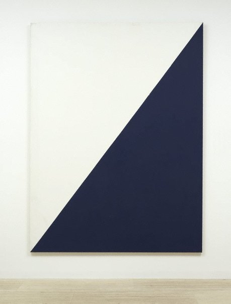 An image of Mon. blue and black 4 by William Turnbull
