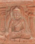 Alternate image of Brick decorated with seated Buddha by