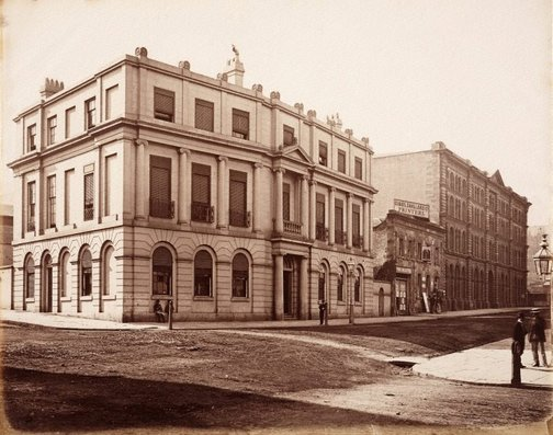 An image of Union Bank of Australia, Pitt & Hunter streets, Sydney by Charles Bayliss