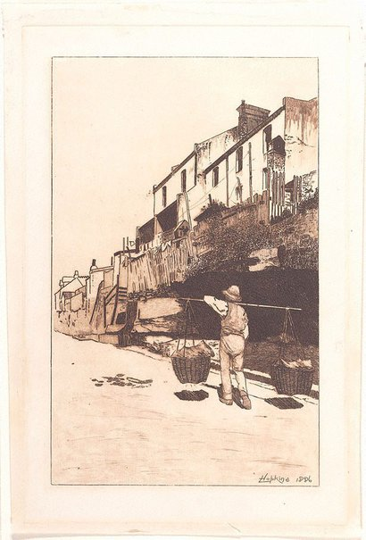 An image of View of The Rocks, Old Sydney by Livingston Hopkins