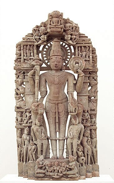 An image of Vishnu and his avatars by