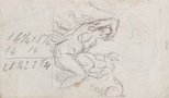 Alternate image of recto: Imaginary scene verso: Study of a woman and faun by Paul Cézanne