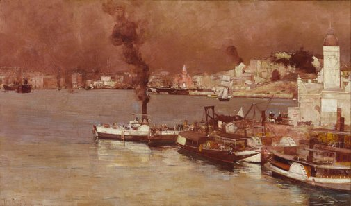 An image of An autumn morning, Milson's Point, Sydney by Tom Roberts